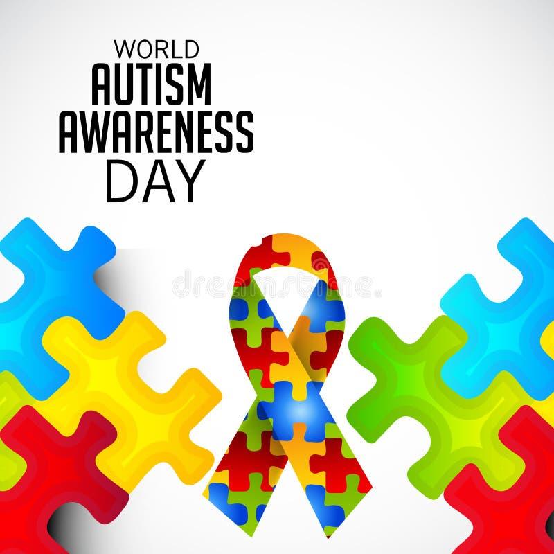 Día de la conciencia del autismo del mundo ilustración del vector