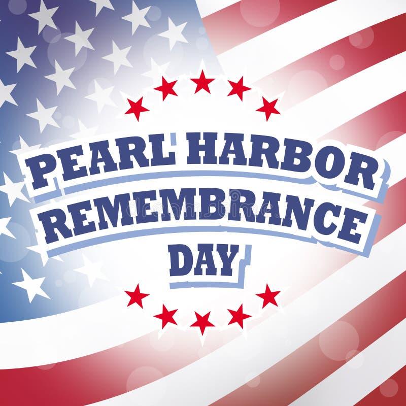 Día de la conmemoración del Pearl Harbor stock de ilustración