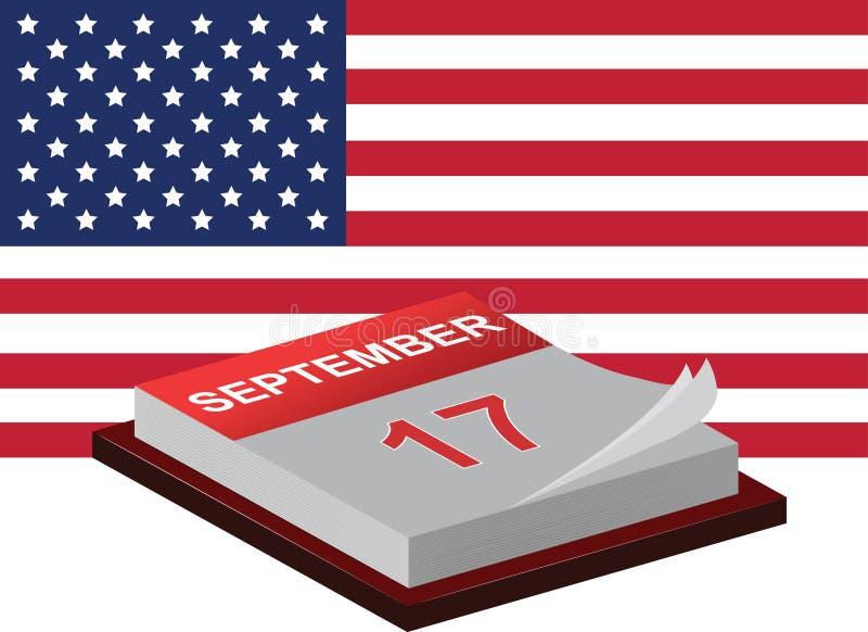 Día de la constitución y día de ciudadanía ilustración del vector