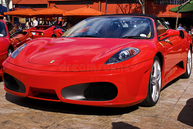 Día de la demostración de Ferrari - araña F430 fotos de archivo libres de regalías