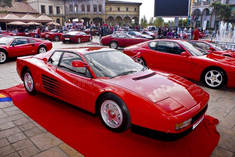 Día de la demostración de Ferrari - Testarossa foto de archivo