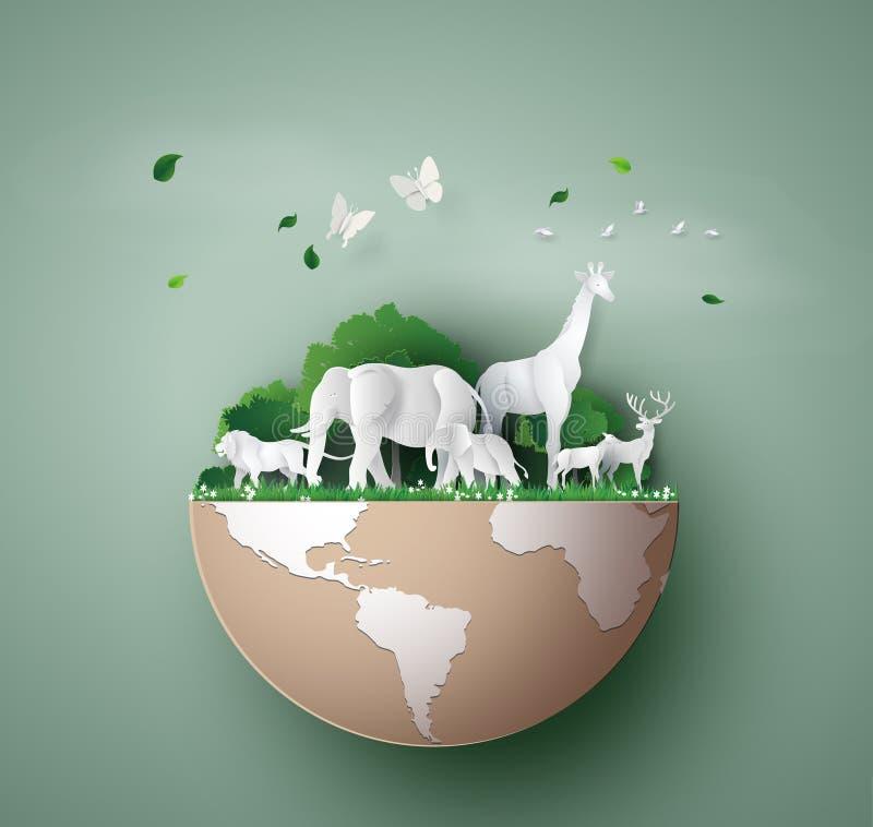 Día de la fauna del mundo ilustración del vector