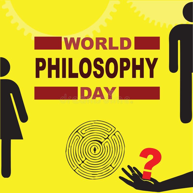 Día de la filosofía del mundo stock de ilustración