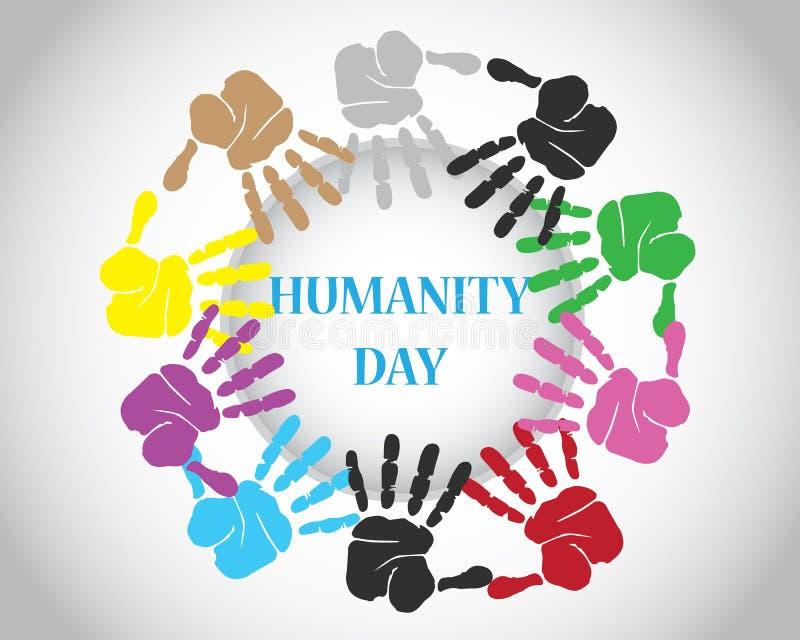 Día de la humanidad del mundo libre illustration