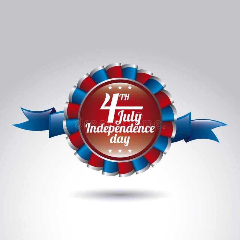 Día de la Independencia stock de ilustración