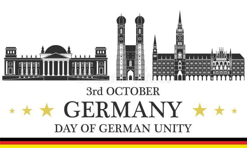 Día de la Independencia abstracto alemania libre illustration