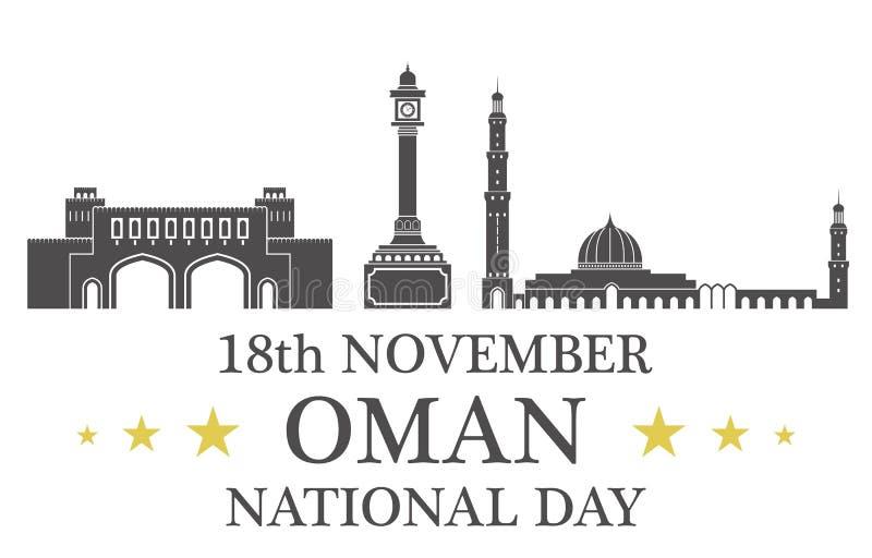 Día de la Independencia abstracto omán libre illustration