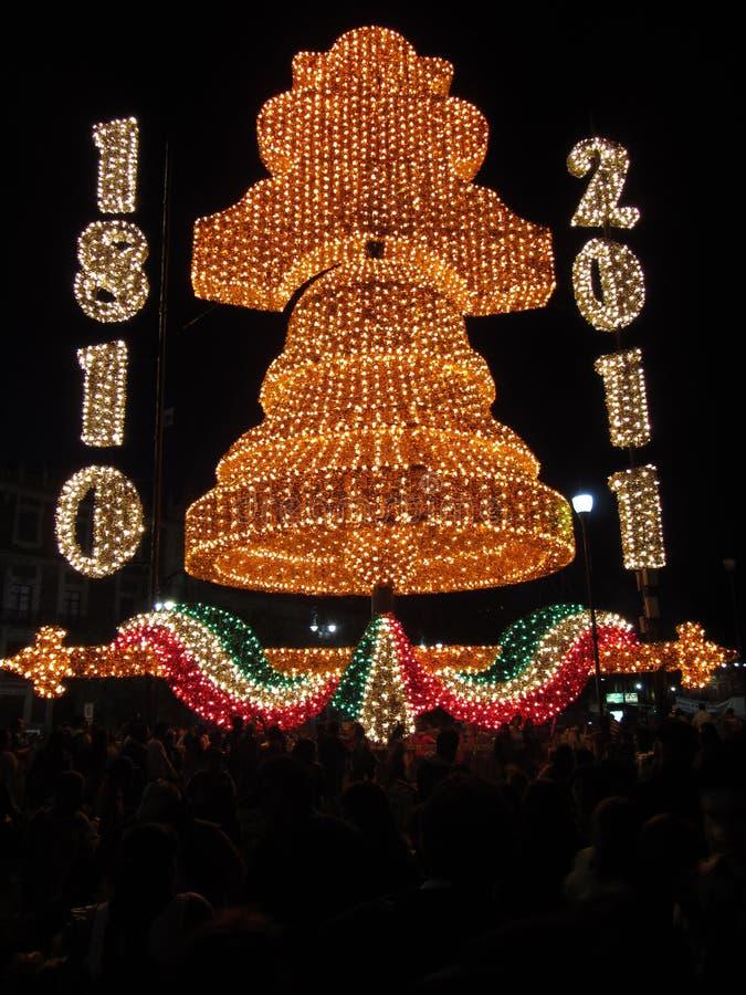 Día de la Independencia Bell de Ciudad de México foto de archivo