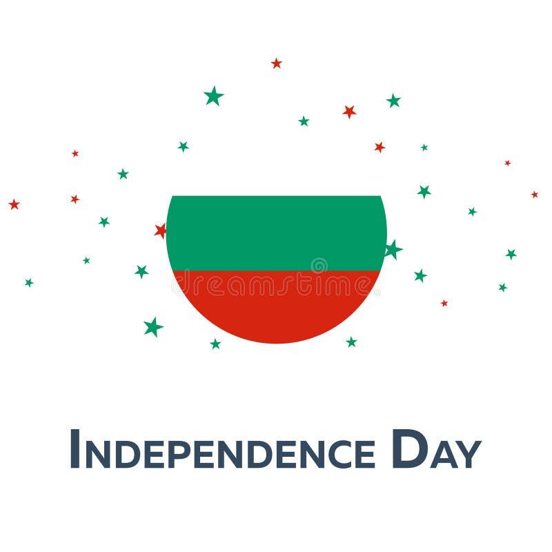 Día de la Independencia de Bulgaria Bandera patriótica Ilustración del vector stock de ilustración