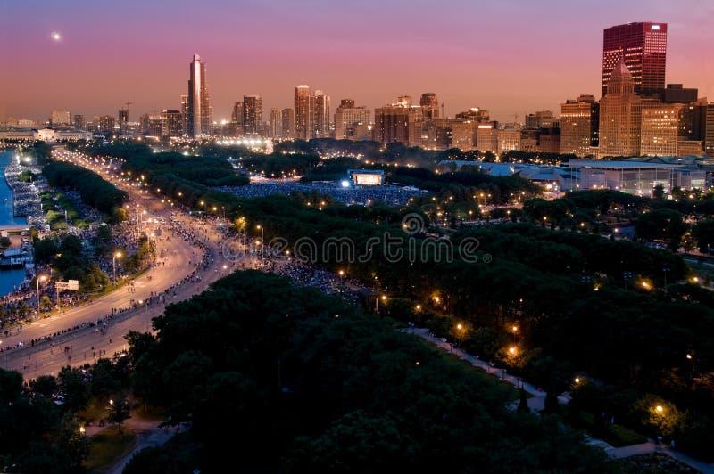 Día de la Independencia de Chicago imagen de archivo