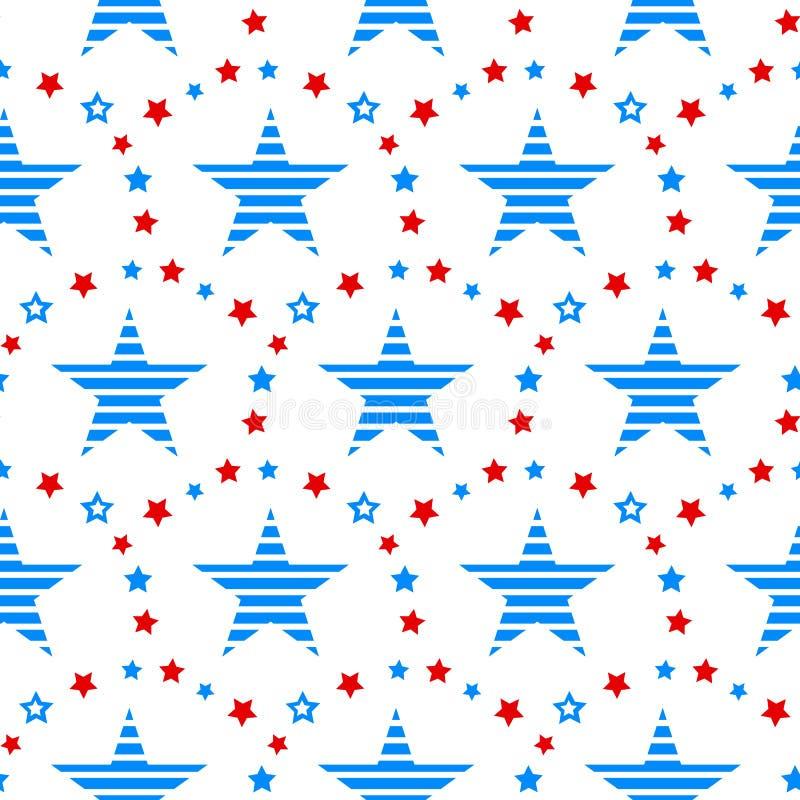 Día de la Independencia de fondo inconsútil festivo del modelo de América libre illustration