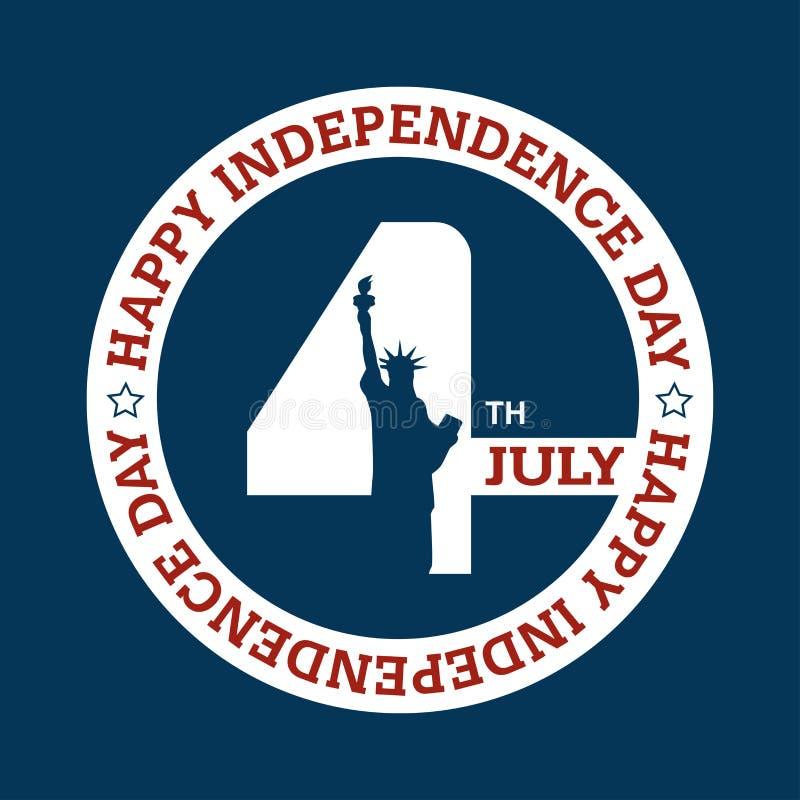 Día de la Independencia - 4 de julio ilustración del vector