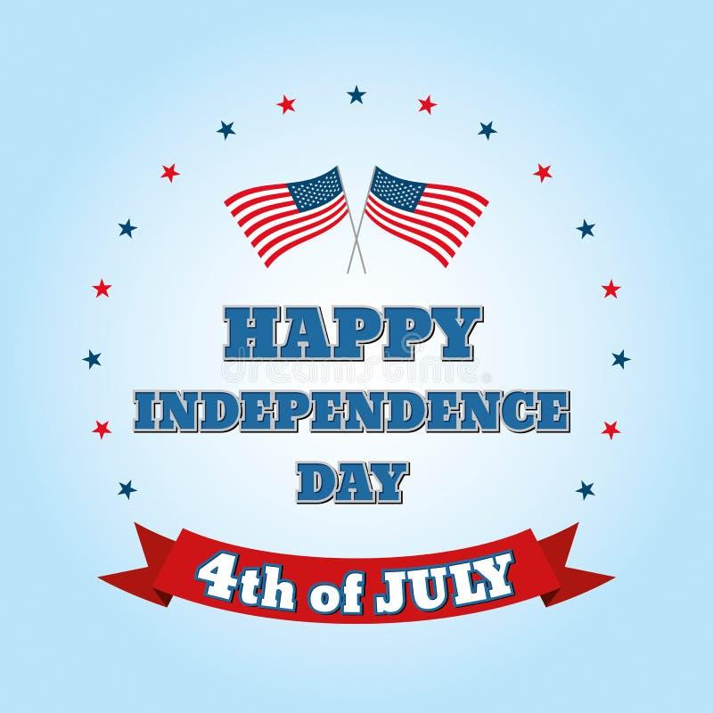 Día de la Independencia 4 de julio Día de la Independencia feliz libre illustration