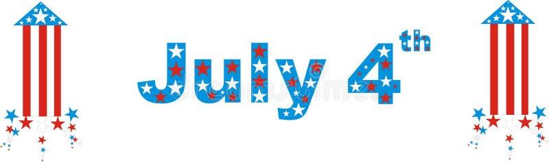 Día de la Independencia de julio el cuarto fotos de archivo libres de regalías