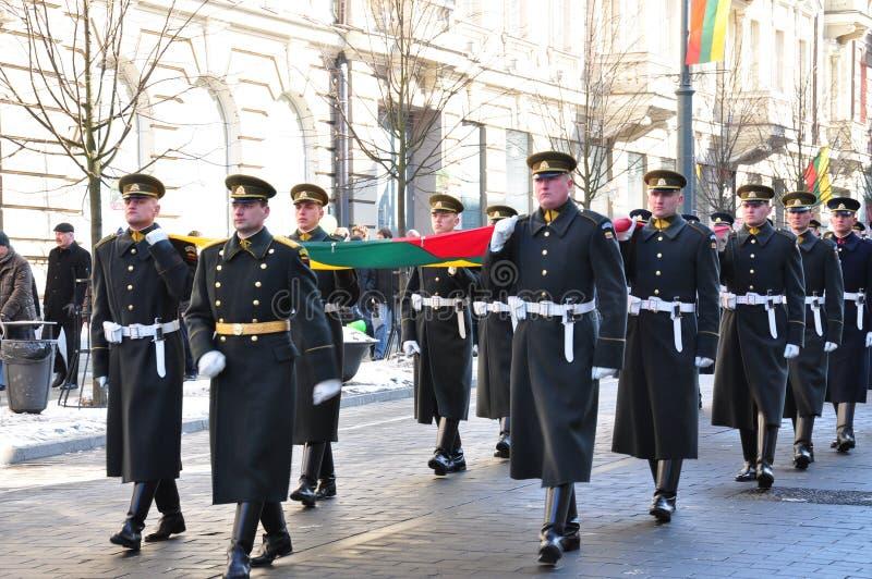 Día de la Independencia de Lituania foto de archivo