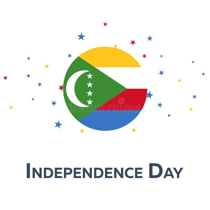 Día de la Independencia de los Comoro Bandera patriótica Ilustración del vector libre illustration