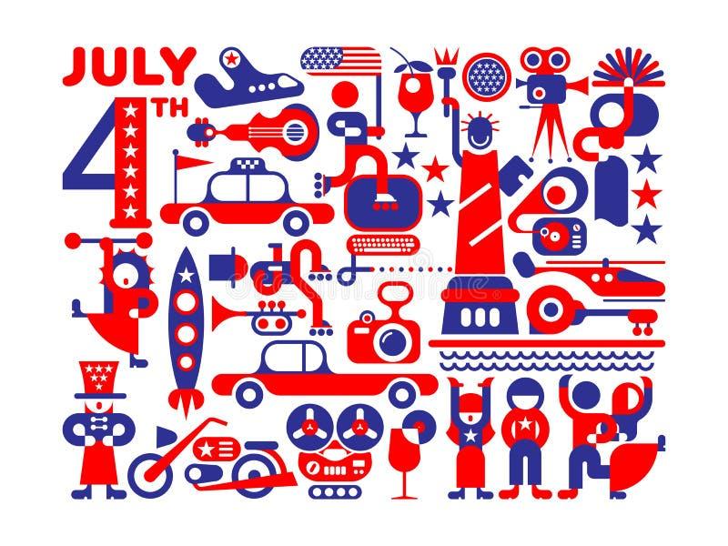 Día de la Independencia de los E libre illustration