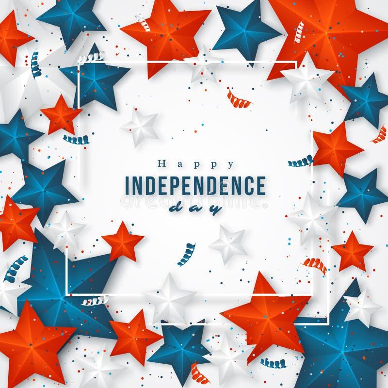 Día de la Independencia de los E foto de archivo libre de regalías