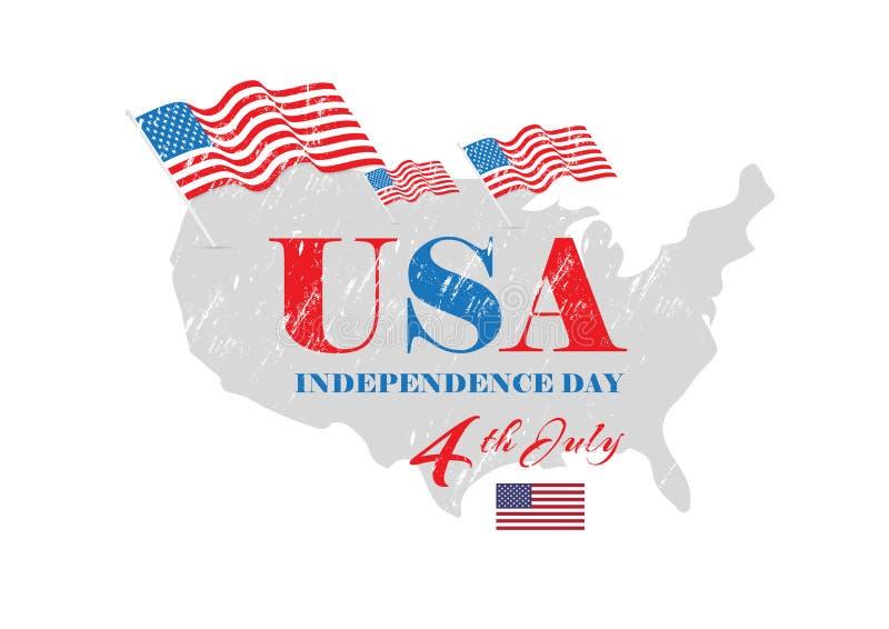 Día de la Independencia de los Estados Unidos de América los E.E.U.U. libre illustration