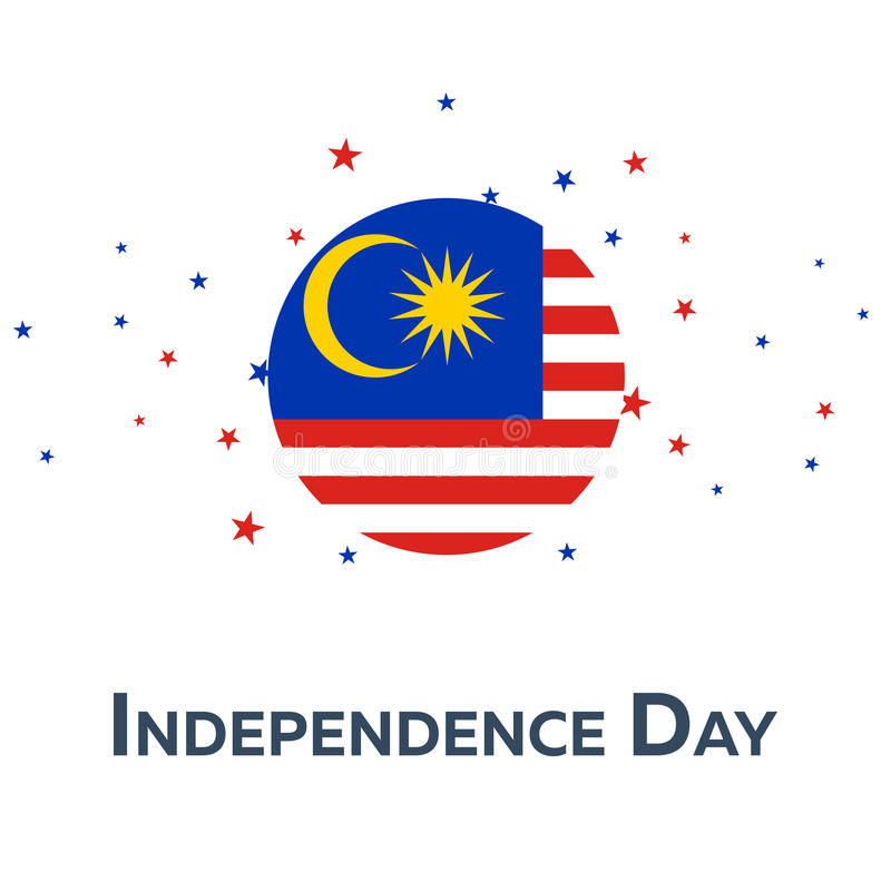 Día de la Independencia de Malasia Bandera patriótica Ilustración del vector libre illustration