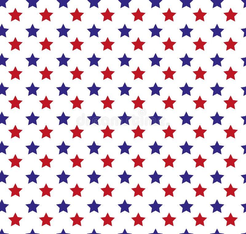 Día de la Independencia de modelo inconsútil de América 4 de julio fondo sin fin Festividad nacional de los E.E.U.U. que repite t libre illustration