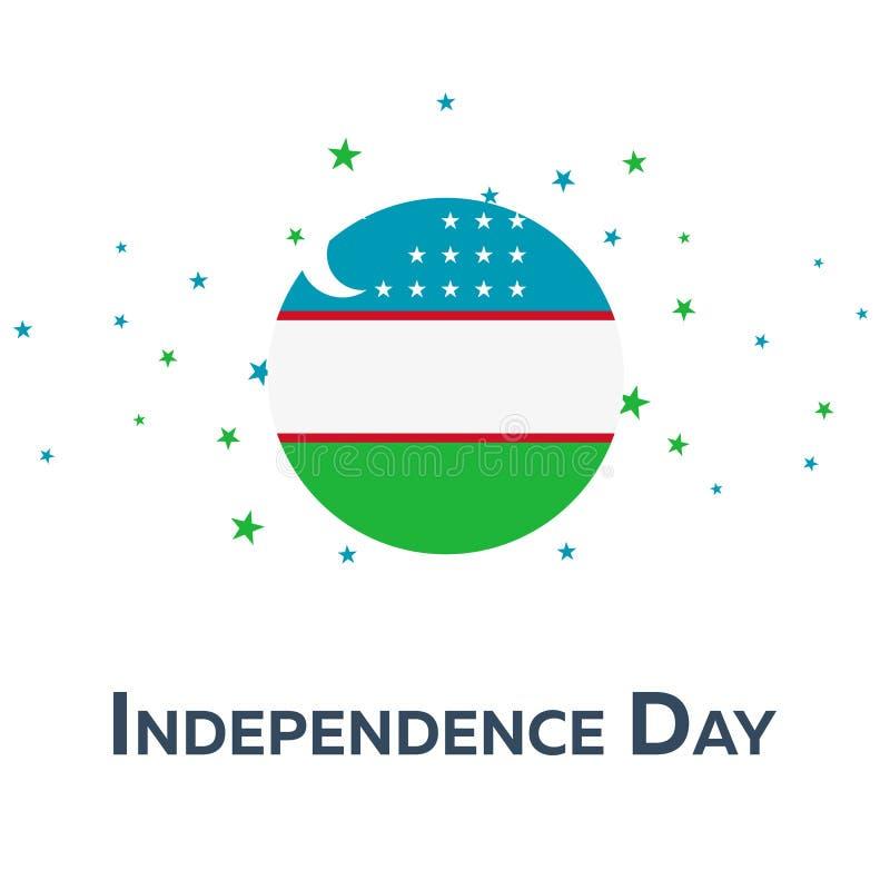 Día de la Independencia de Uzbekistán Bandera patriótica Ilustración del vector libre illustration