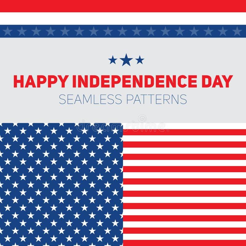 Día de la Independencia en los Estados Unidos de América Modelos inconsútiles libre illustration