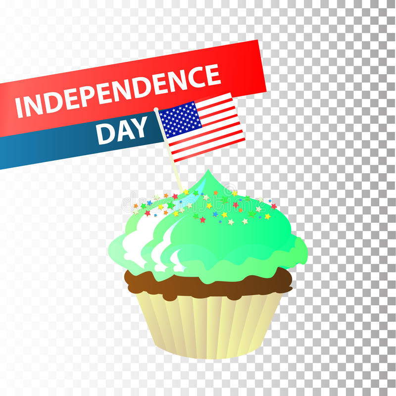 Día de la Independencia Estados Unidos Cuarto de julio stock de ilustración