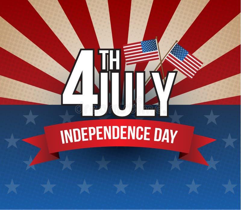Día de la Independencia feliz stock de ilustración