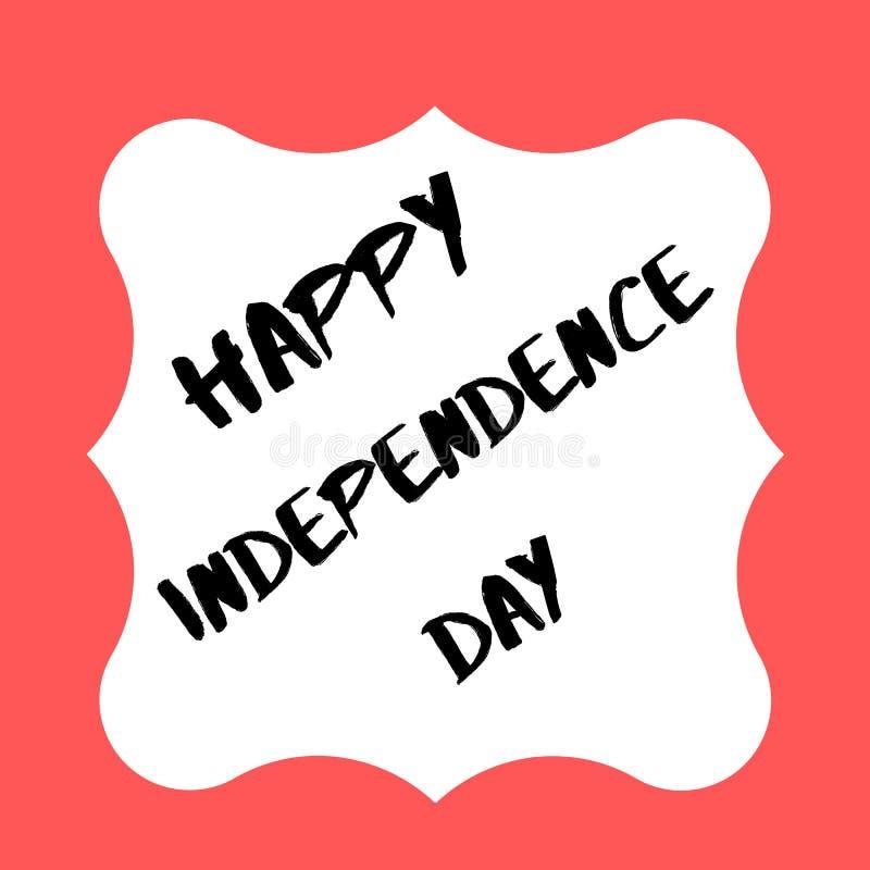 Día de la Independencia feliz 2019 los E.E.U.U. ilustración del vector