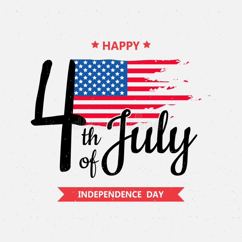 Día de la Independencia feliz o 4to del fondo del vector de julio o del gráfico de la bandera ilustración del vector