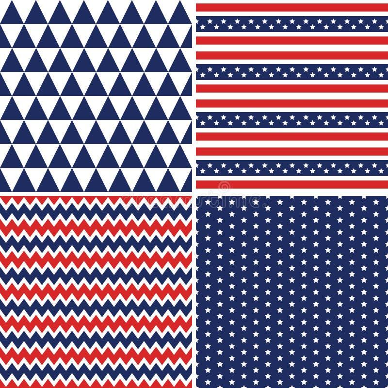 Día de la Independencia inconsútil azul blanco rojo de los fondos libre illustration