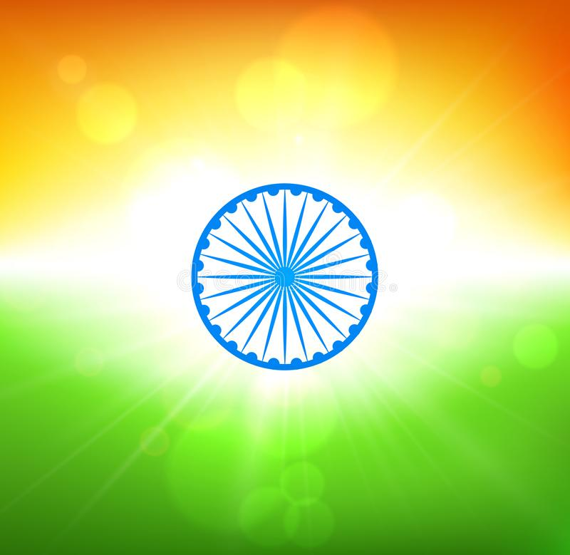 Día de la Independencia de la India Fondo en colores de la bandera nacional libre illustration
