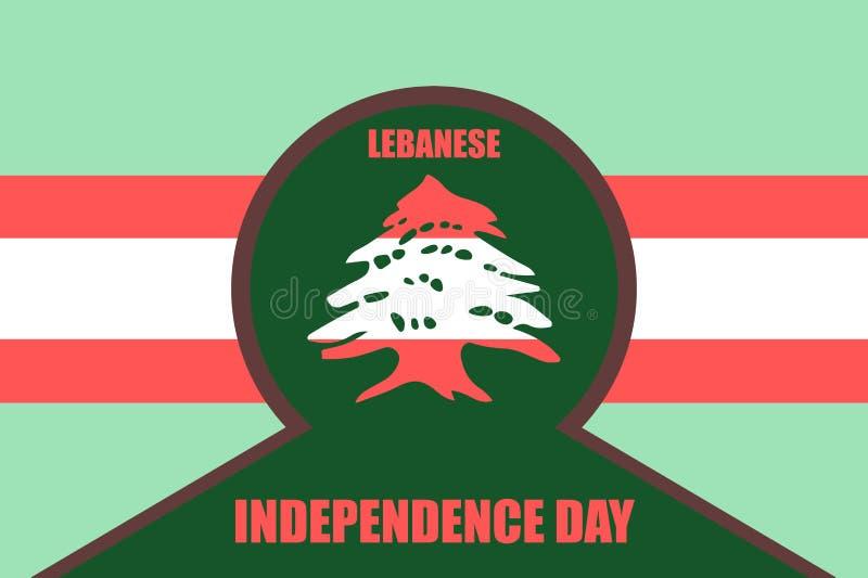 Día de la Independencia libanés stock de ilustración