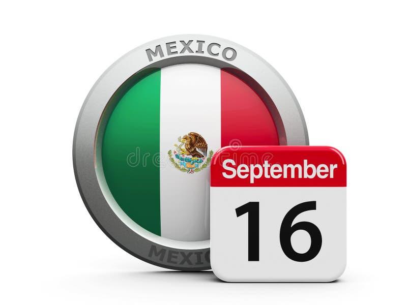 Día de la Independencia de México ilustración del vector