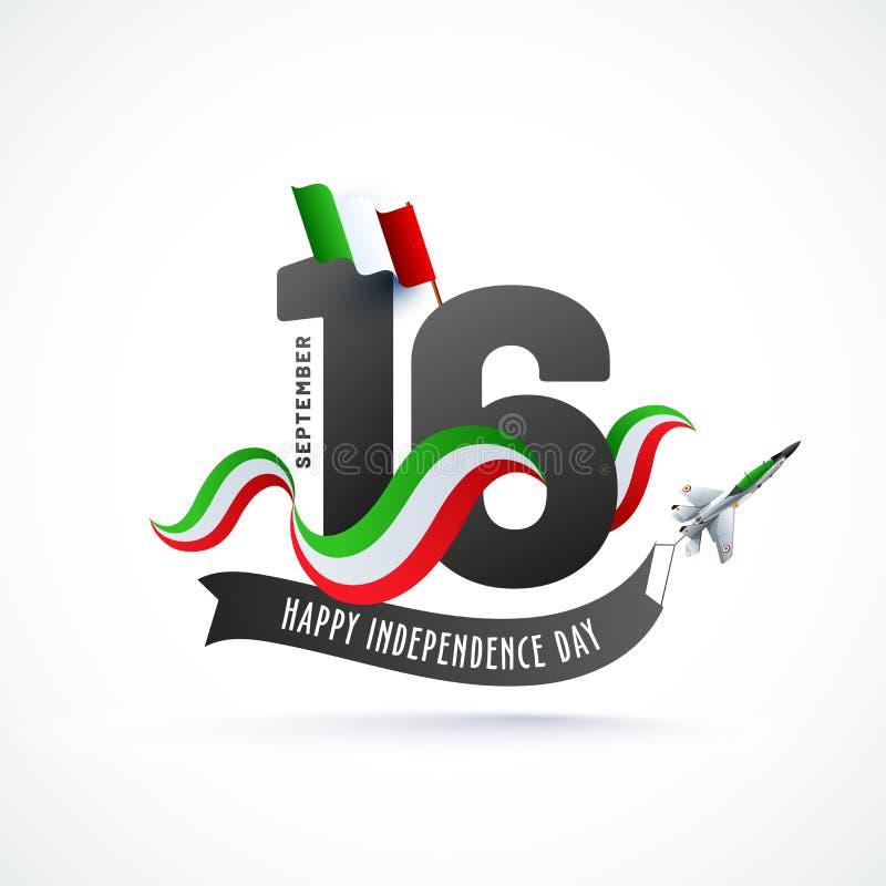 Día de la Independencia de México stock de ilustración