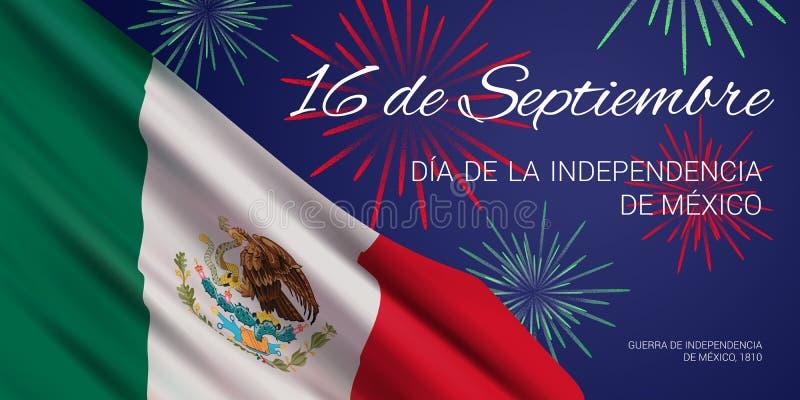 El Día De La Independencia De México. Plantilla De Diseño Del Pabellón Del  Vector. Ilustración del Vector - Ilustración de democracia, grito: 156939758