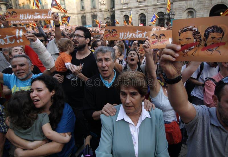 Día de la Independencia de la república de Catalona imagen de archivo libre de regalías