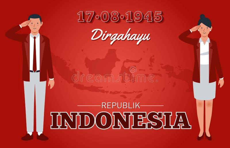 Día de la Independencia de la República de Indonesia libre illustration