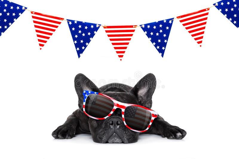 Día de la Independencia 4to de perro de julio foto de archivo