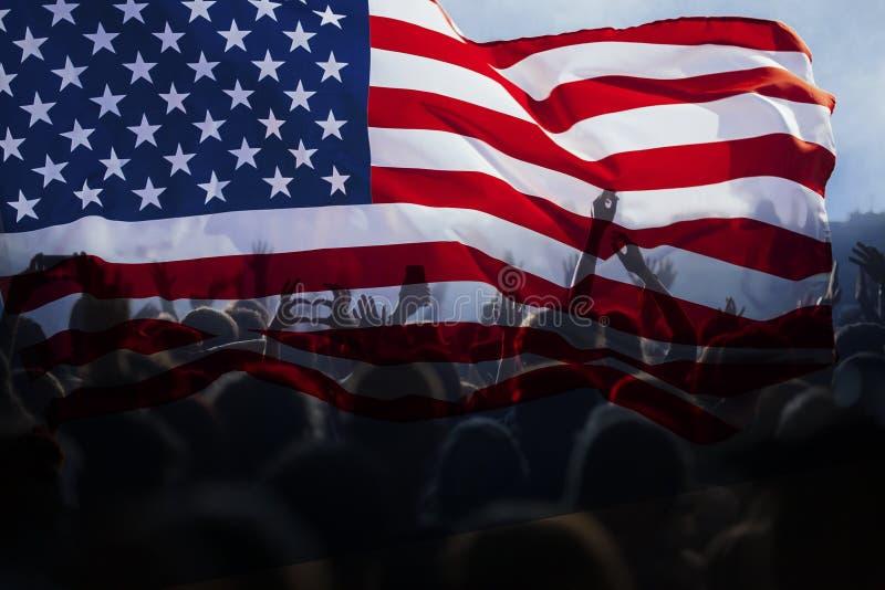 Día de la Independencia, 4to del concepto de julio imagen de archivo
