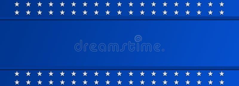 Día de la Independencia, 4to de la festividad nacional de julio en los Estados Unidos de América Bandera del fondo ilustración del vector