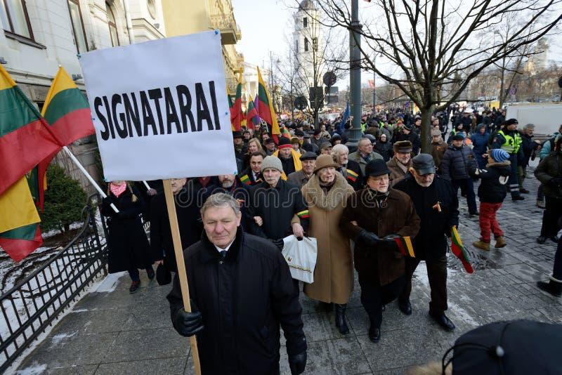 Día de la Independencia, Vilna, Lituania foto de archivo libre de regalías