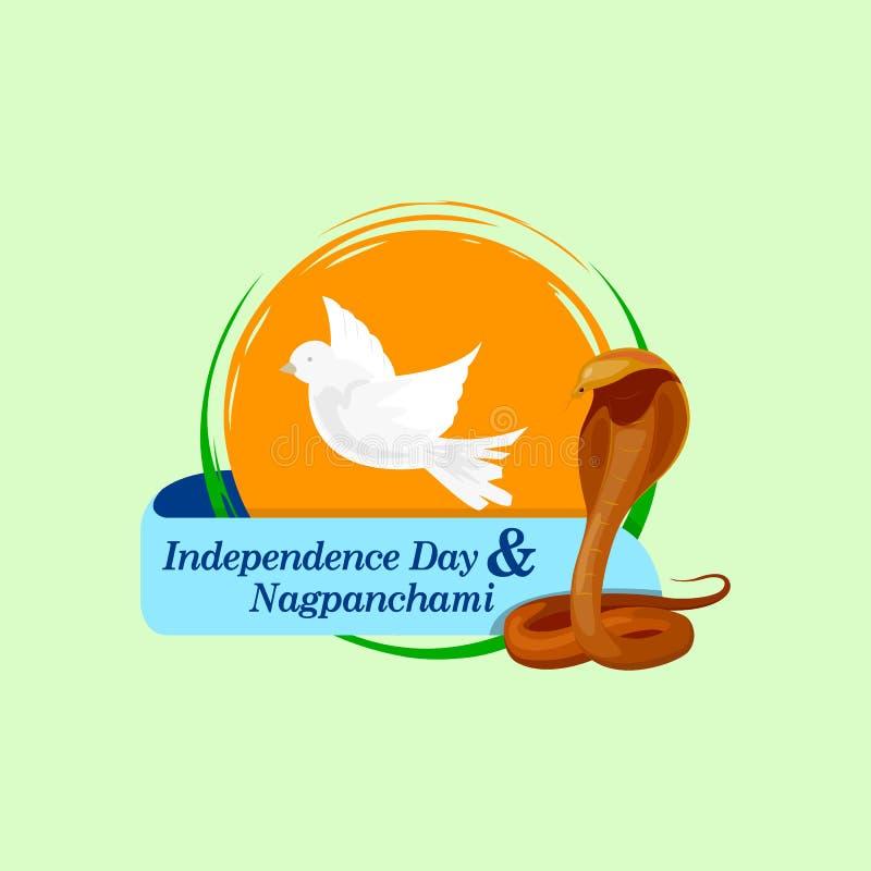 Día de la Independencia y Naga Panchami libre illustration