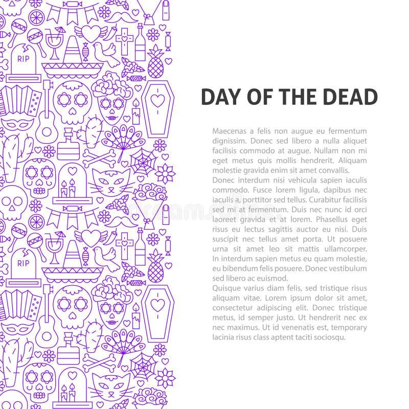 Día de la línea muerta concepto del modelo stock de ilustración