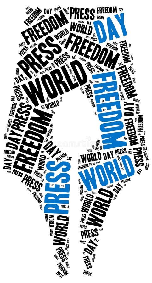 Día de la libertad de prensa del mundo Celebrado el 1 de mayo stock de ilustración