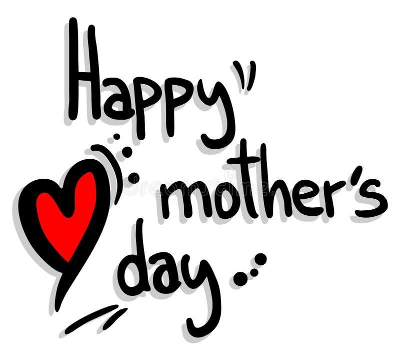 Día de la madre feliz libre illustration