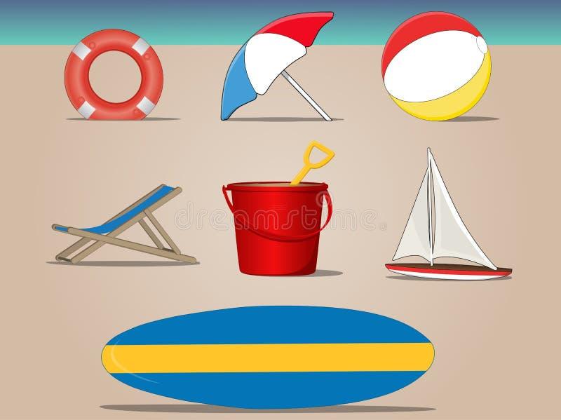 Día de la playa libre illustration