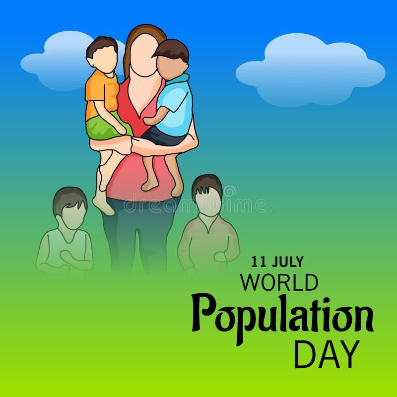 Día de la población de mundo ilustración del vector