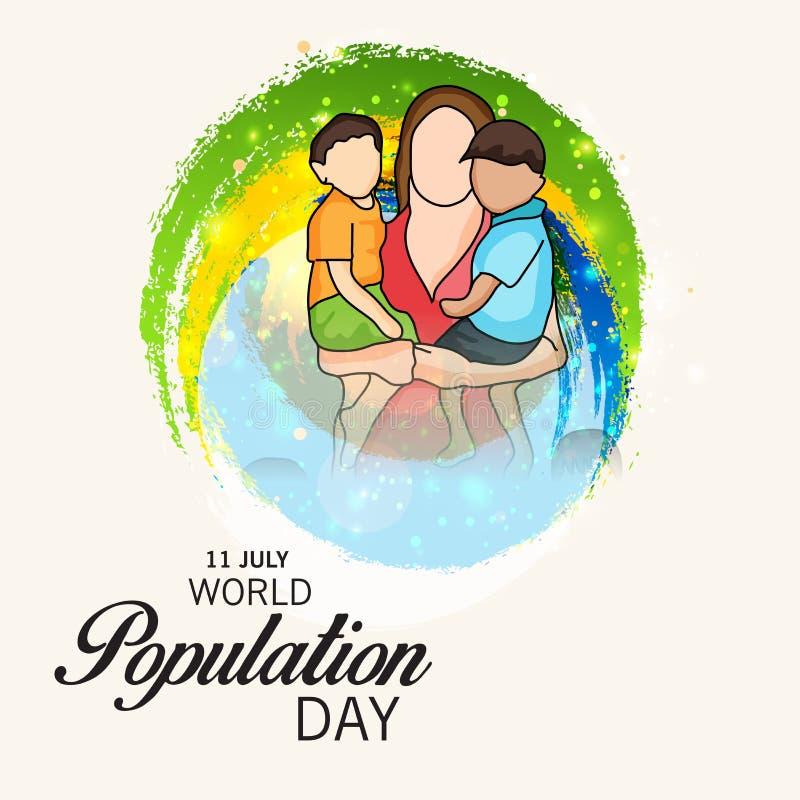 Día de la población de mundo libre illustration